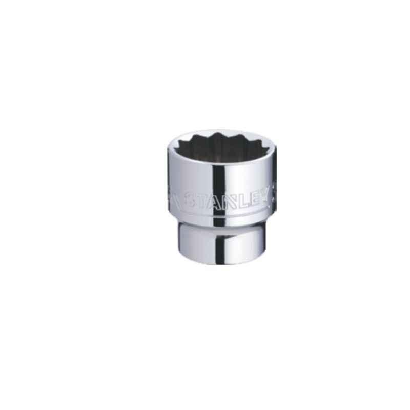 Stanley 1/2 Inch 12 PT Standard Socket, 17mm, 1-88-789