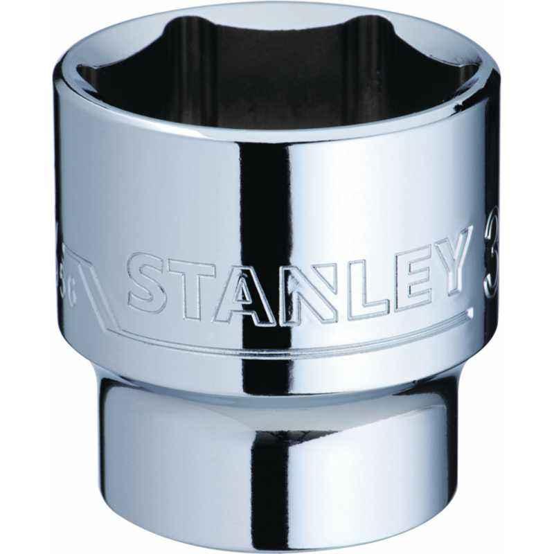 Stanley 1/2 Inch 6 PT Standard Socket, 27mm, 1-88-749