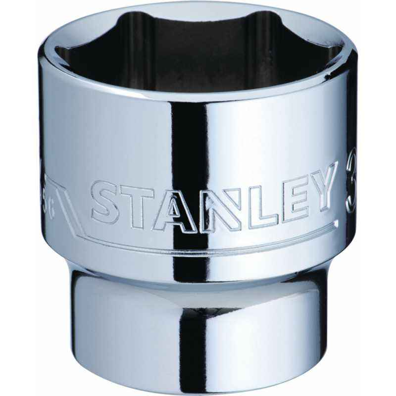 Stanley 1/2 Inch 6 PT Standard Socket, 17mm, 1-88-739