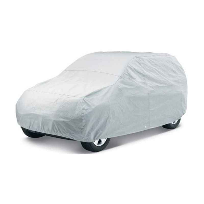 Uncle Paddy Silver Car Cover for Hyundai Santro