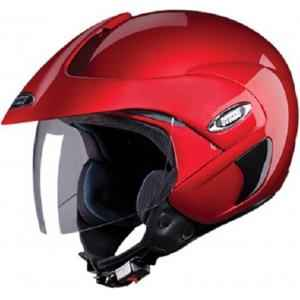 Studds Marshall Motorsports Wine Red Open Face Helmet, Size (Large, 580 mm)