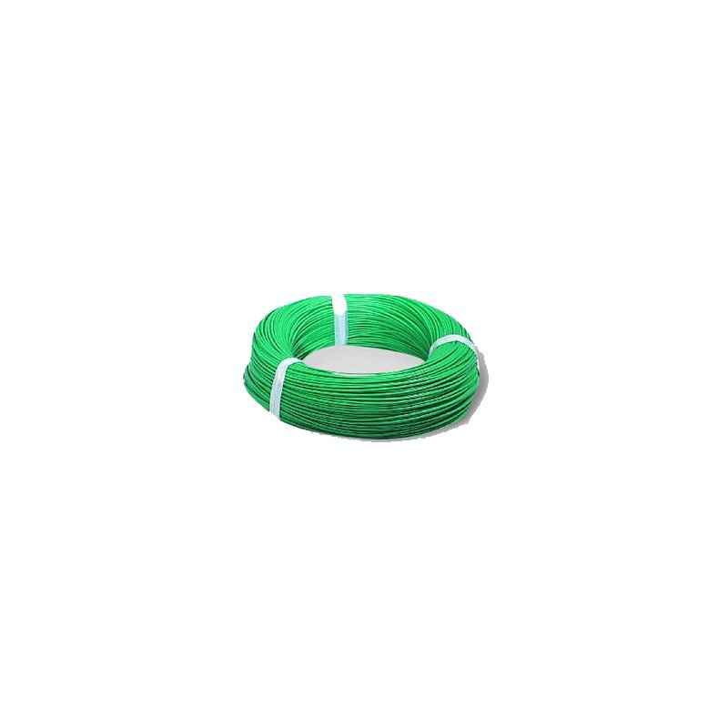 RISTACAB 90m Green PVC Insulated Flexible Copper Conductor Unsheathed Cable, 6 Sqmm