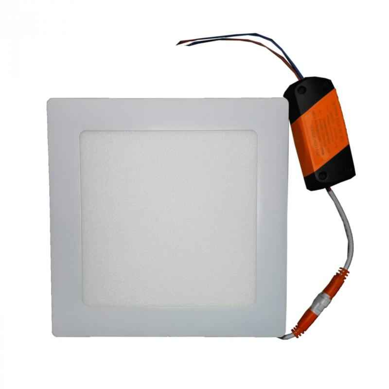 LumoGen 12W Square Cool White Slim LED Panel Light