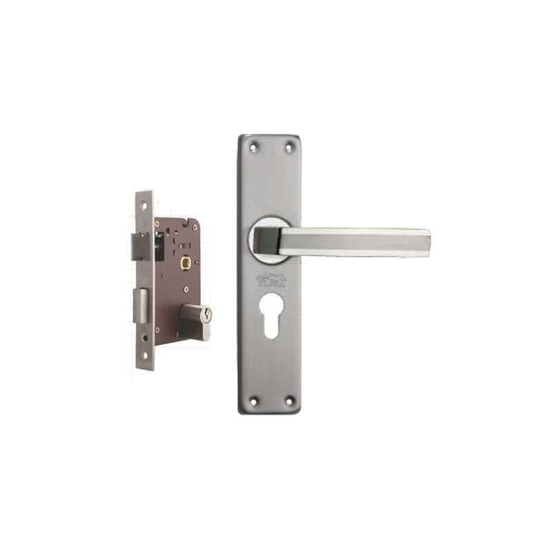 Plaza Amaze Stainless Steel Finish Handle with 200mm Pin Cylinder Mortice Lock & 3 Keys