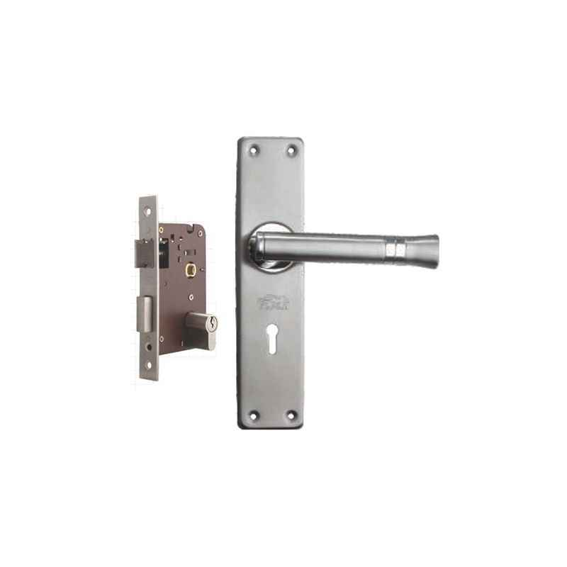 Plaza Ace Stainless Steel Finish Handle with 200mm Pin Cylinder Mortice Lock & 3 Keys