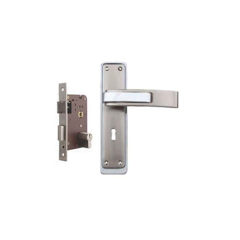 Plaza Royal Stainless Steel Finish Handle with 200mm Pin Cylinder Mortice Lock & 3 Keys