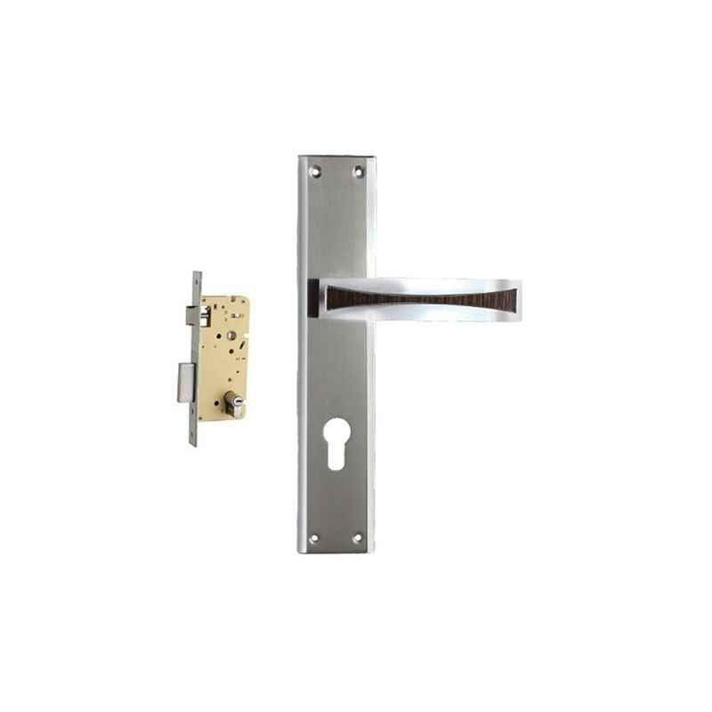 Plaza Nexa Stainless Steel Finish Handle with 250mm Pin Cylinder Mortice Lock & 3 Keys