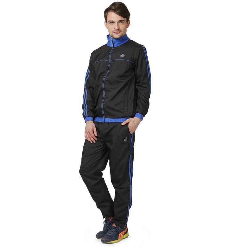 Abloom 111 Black & Royal Blue Tracksuit, Size: M