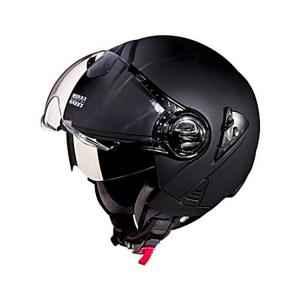 Studds Downtown Matte Black Open Face Helmet, Size: L