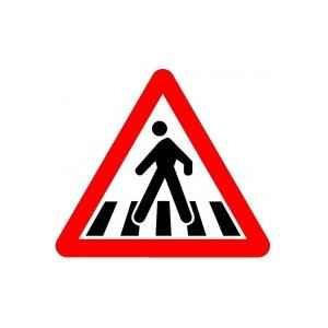 Asian Loto 3 mm Traffic Sign Pedestrian Crossing Traffic Sign, ALC-SGN-32-900