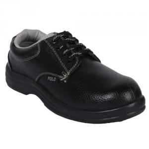 Polo Steel Toe Black Safety Shoes, Size: 11 (Pack of 24)