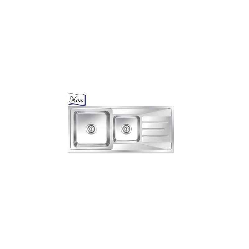Nirali Orus Anti Scratch Finish Kitchen Sink, Size: 1165x505 mm