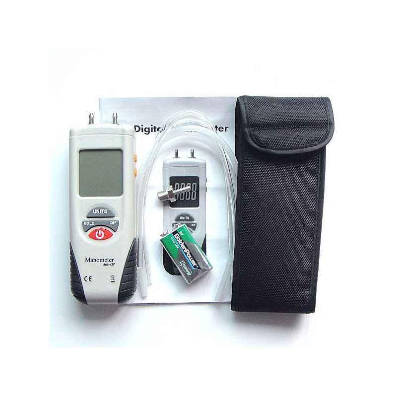 Mextech DMM-45 Digital Manometer, Pressure: 10 psi
