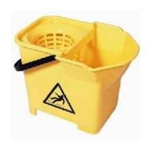 Amsse SR1001 Cone Single Bucket for Round Mop with Cone Squeezer and Handle,Capacity 15 Ltrs