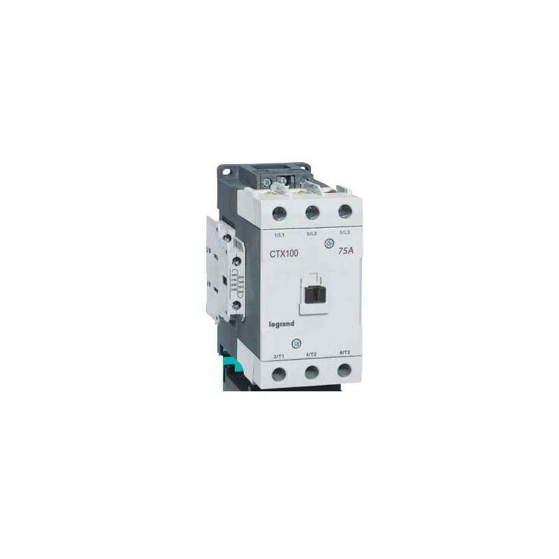 Legrand 3 Pole Contactors CTX³ 100 Screw Terminal Integrated Auxiliary Contacts 2 NO + 2 NC, 4161 84