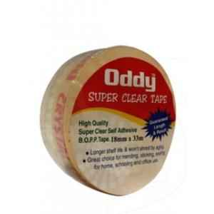 Oddy 1 inch ID Super Clear Stationary Tape, SCT-1833 (Pack of 50)