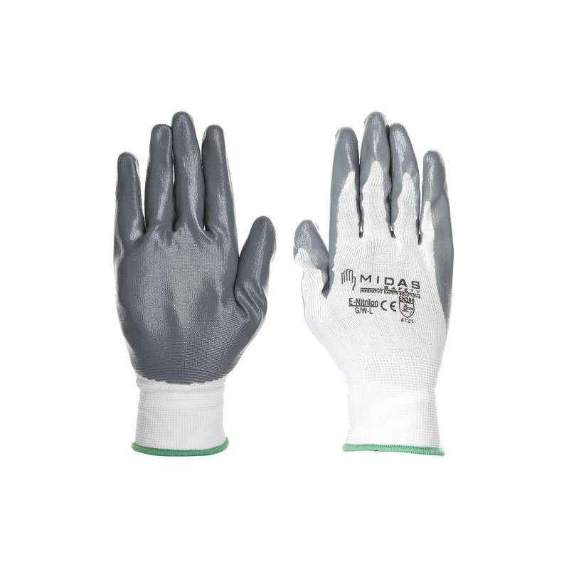 Midas GL 022 Safety Nitralon Hand Gloves, Size: 10 (Pack of 24)