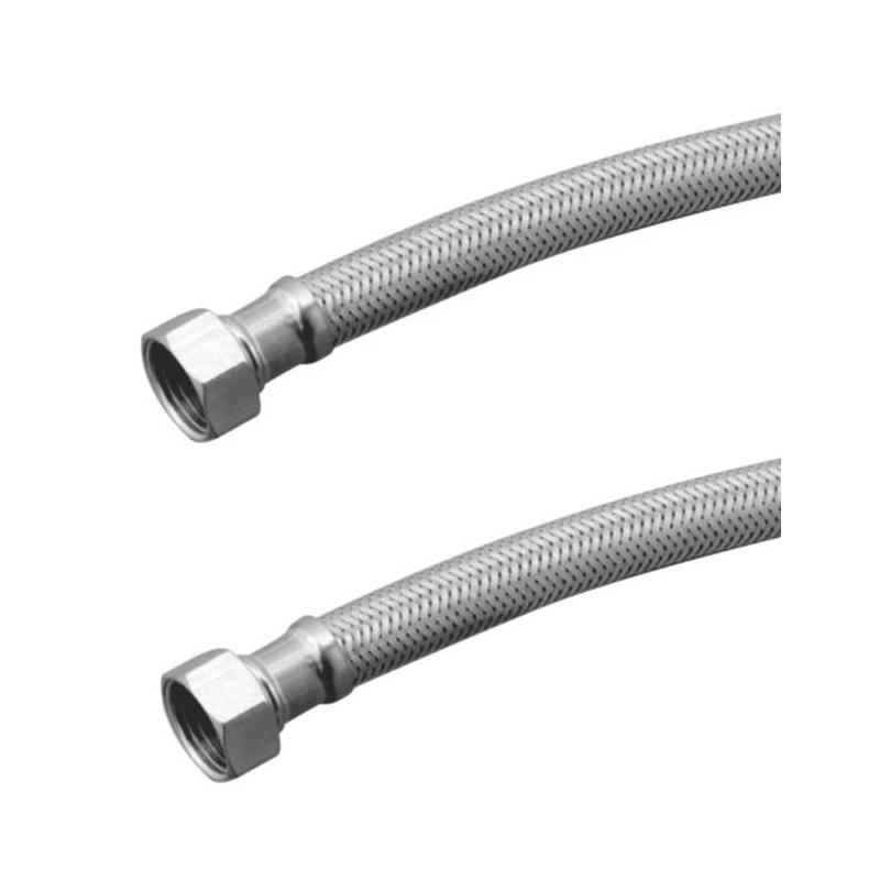 Kamal CNX-0873-S2 24 inch Wall Mount S.S Braided Connection Hose (Pack of 2)