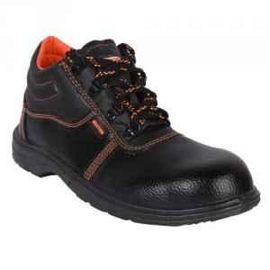 Hillson Beston Steel Toe Black Safety Shoes, Size: 7