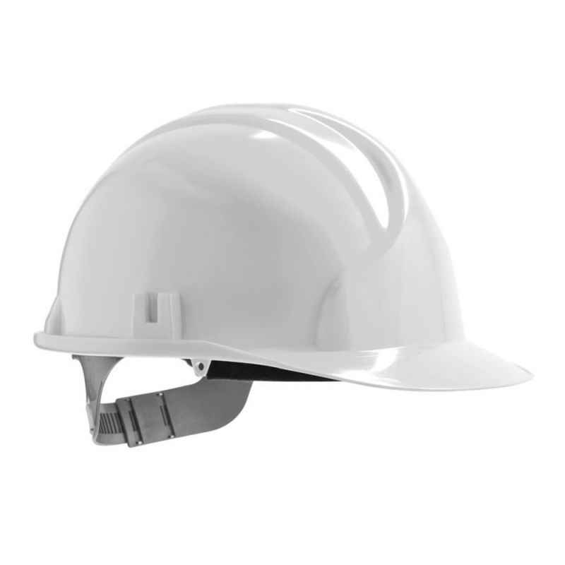 Shiv Tech White Safety Helmets, (Pack of 5)