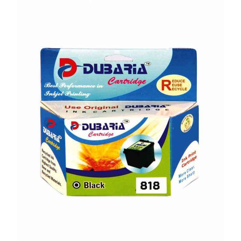 Dubaria 818 Black Ink Cartridge For HP Deskjet Printers