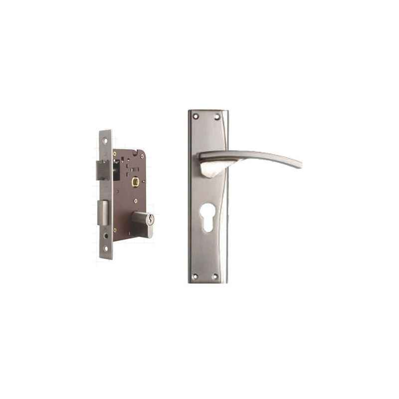 Plaza Pulse Stainless Steel Finish Handle with 200mm Pin Cylinder Mortice Lock & 3 Keys