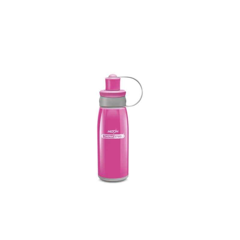 Milton Thermosteel Bravo 400ml Pink Water Bottle, M1118-MTBP-40