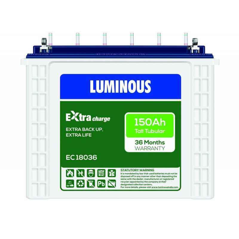 Luminous EC18036 150Ah Tall Tubular Battery