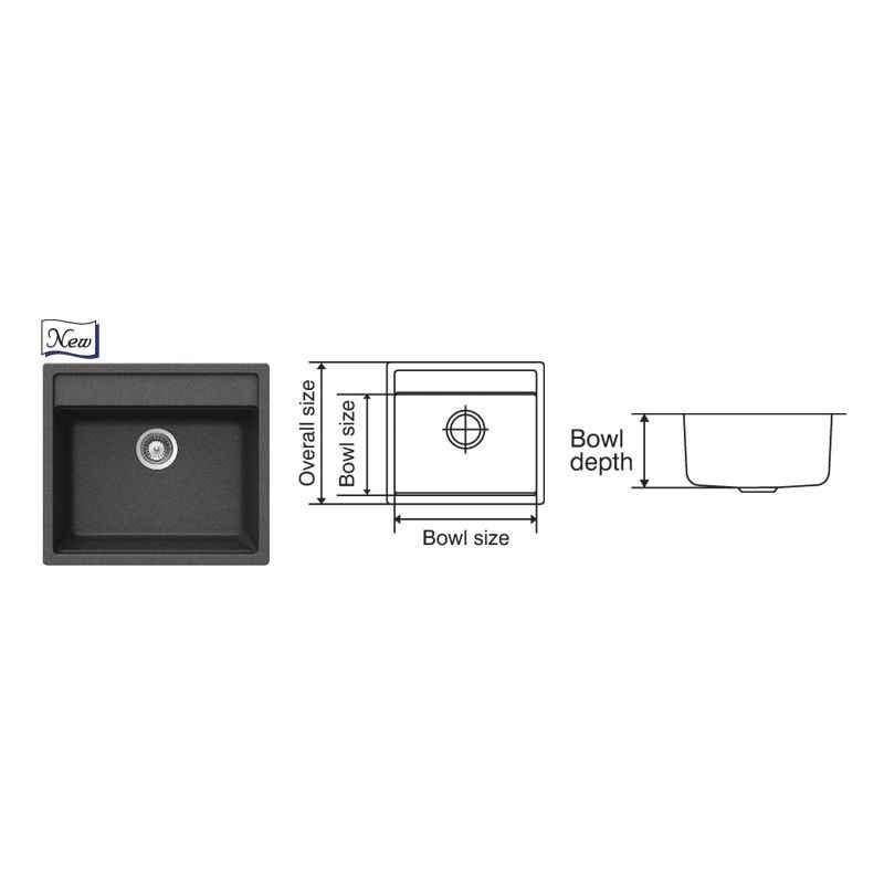 Nirali Elvo Kitchen Sink, Size: 570x510 mm