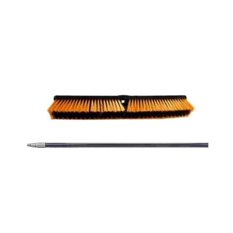 Amsse PHB 1001 18 inch Plastic Hard Brush with Screw Handle