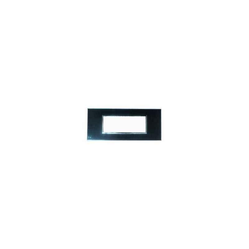 Legrand Arteor 2x4 Module Graphite Square Cover Plate With Frame, 5757 62