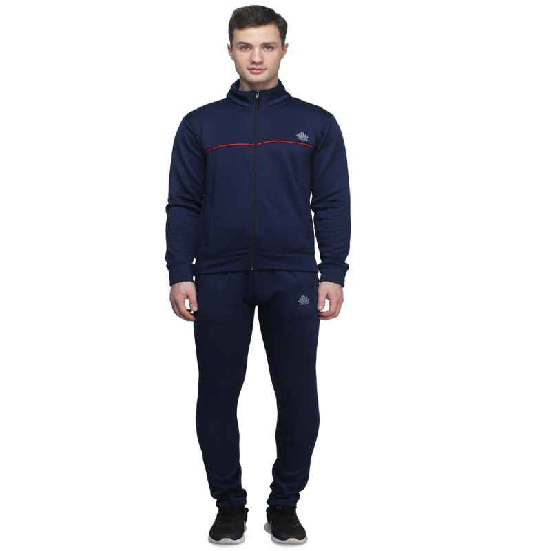 Abloom 144 Navy Blue & Red Tracksuit, Size: L