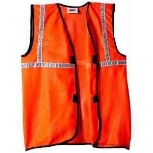 Safari Pro 1 Inch Orange Fabric Type Reflective Safety Jacket