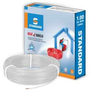 Standard 4 Sq mm 90m White PVC FR Industrial Cables, WSFFDNWA14X0