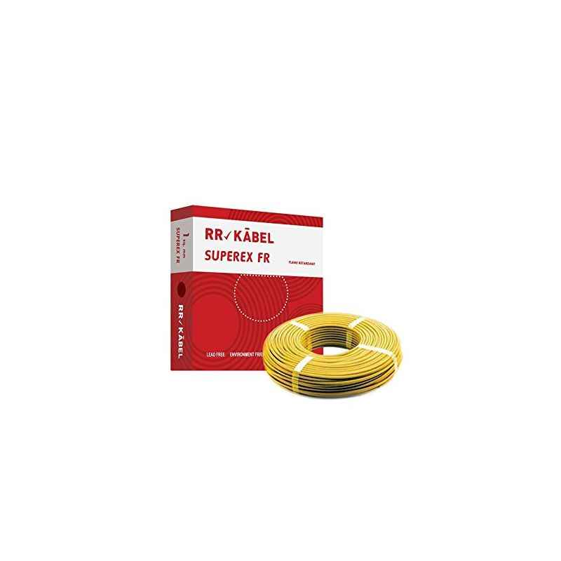 RR Kabel Superex-FR 1.5 Sq mm Yellow PVC Insulated Cable, Length: 90 m