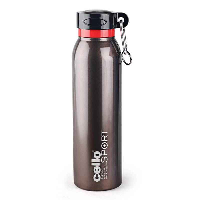 Cello Beatle 550ml Brown Stainless Steel Water Bottle