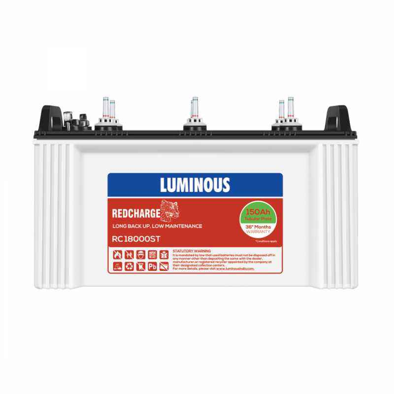 Luminous Red Charge 18000 150Ah ST Tubular Battery