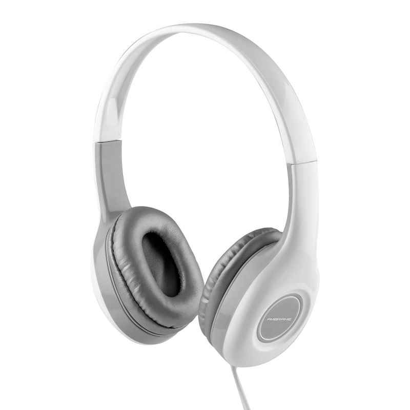 Ambrane White Ultra Comfortable Wired Headphone with Mic, HP-10