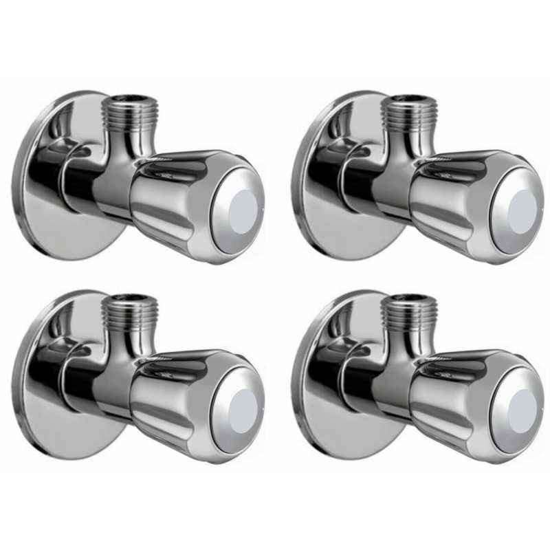 Snowbell Conty Brass Chrome Plated Angle Faucet (Pack of 4)
