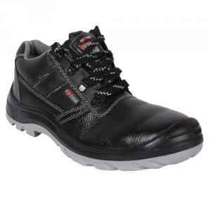 Hillson Soccer Steel Toe Black Safety Shoes, Size: 8