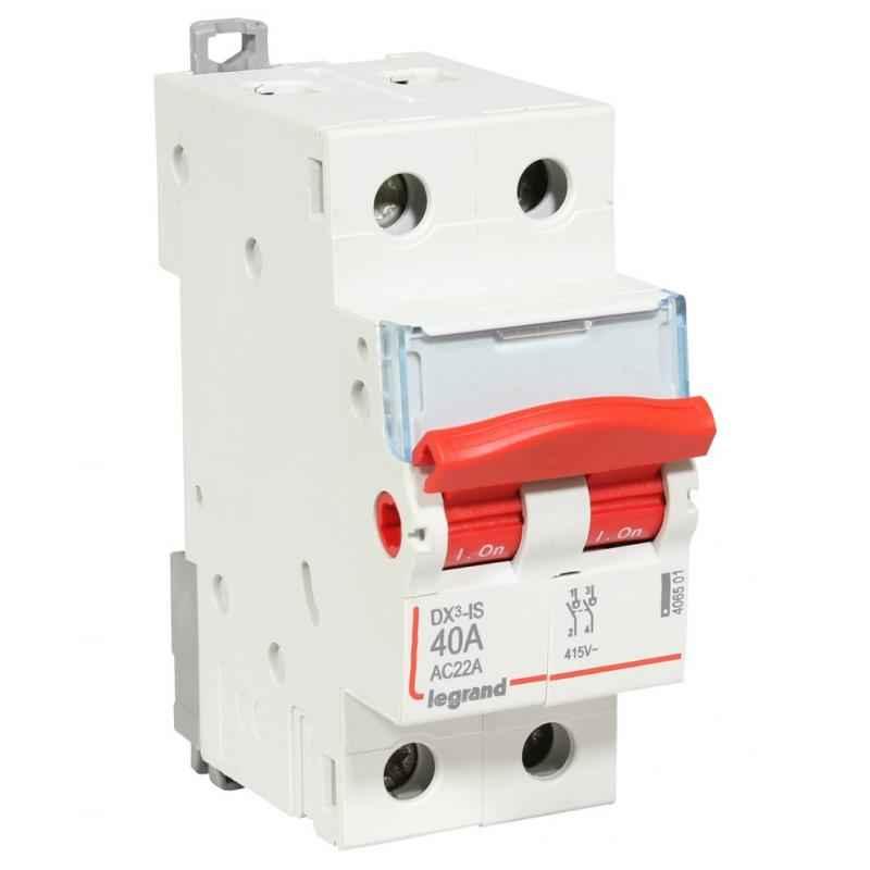 Legrand 63A DX³ 2 Pole MCBs Isolators for AC Applications, 4065 02