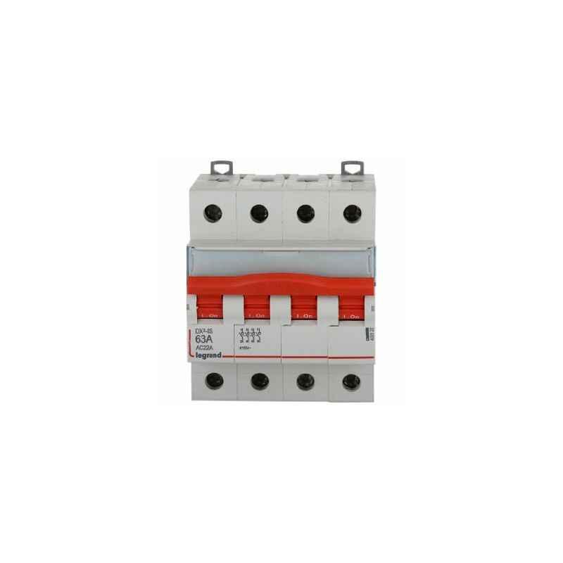 Legrand 63A DX³ 4 Pole MCBs Isolators for AC Applications, 4065 20