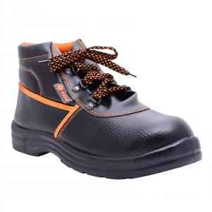 Polo Indcare Aero High Ankle Steel Toe Black & Orange Safety Shoes, Size: 7 (Pack of 20)