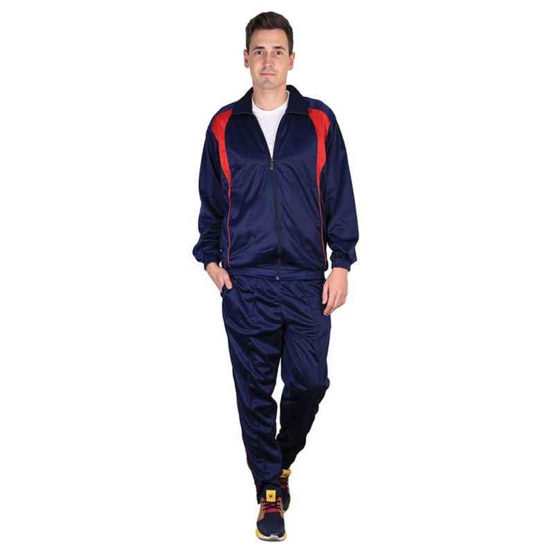 VDG T012 Navy Blue Sportswear Tracksuit, Size: 46