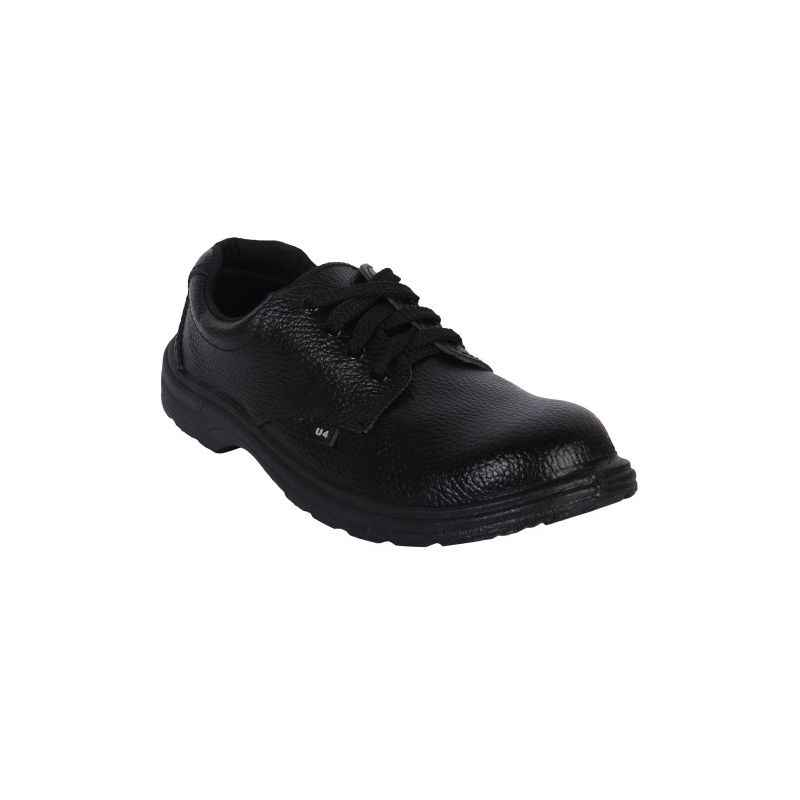 Hillson U4 Steel Toe Black Safety Shoes, Size: 11