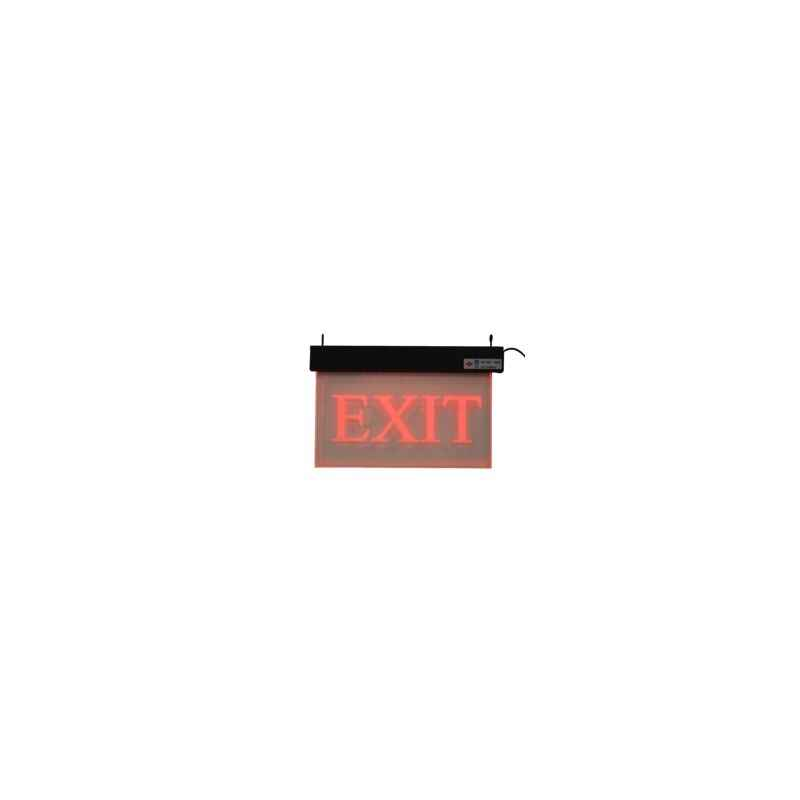 Rax Acrylic Red Exit Sign with Battery Backup, RT-EXIT-AI/SO1