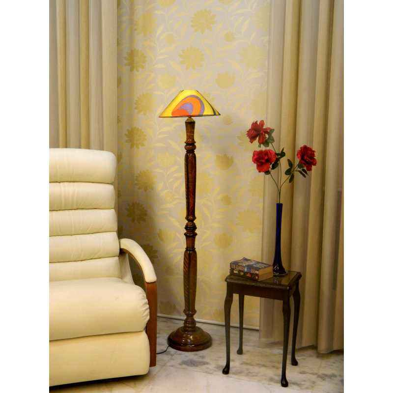 Tucasa Vintage Wooden Lamp with Multi Shade, LG-937