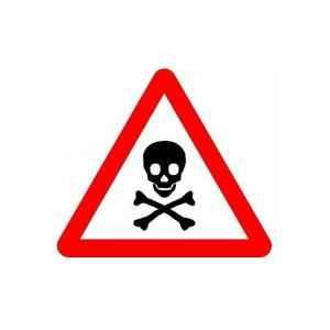 Asian Loto 3 mm Traffic Sign Hip Retro Reflective Danger Warning Sign, ALC-SGN-29-900