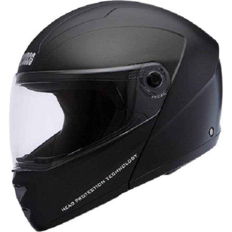 Studds Ninja Elite Motorbike Black Flip-up Helmet, Size (Large, 580 mm)
