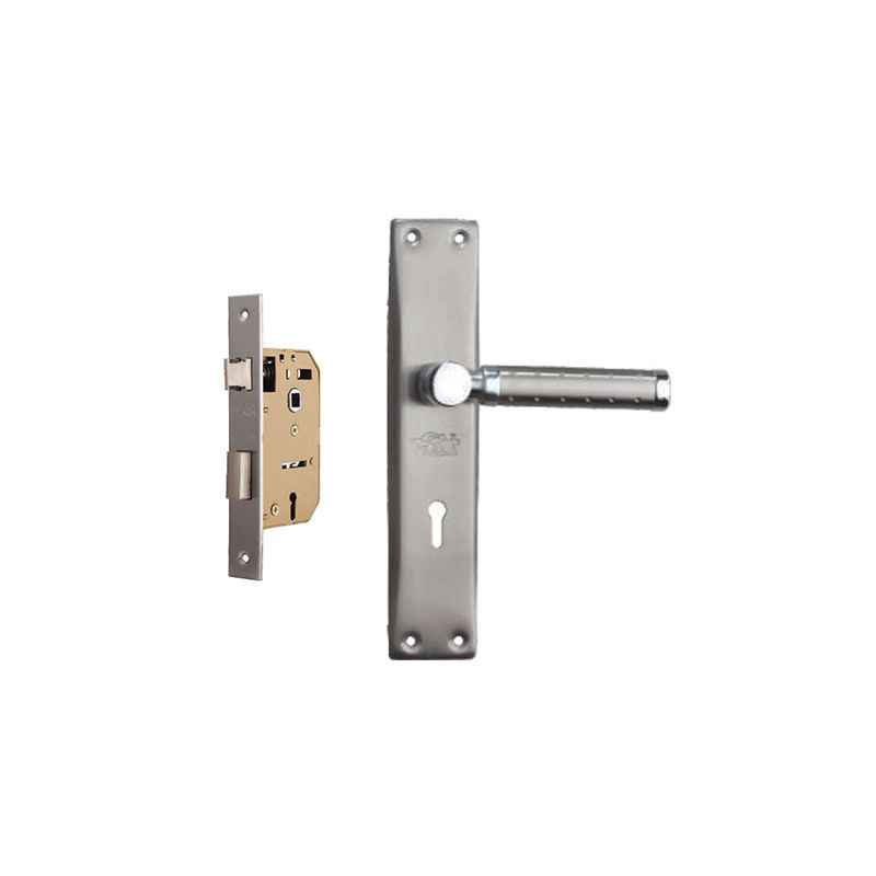 Plaza Euro Stainless Steel Handle with 65mm Mortice Lock & 3 Keys